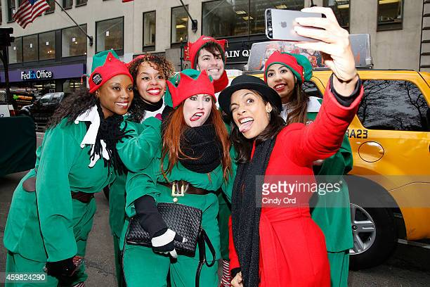 Rosario Dawson kicks off Operation Give With Gusto in New York with NESCAFE Dolce Gusto and 100 Holiday Elves on December 2 2014 in New York City