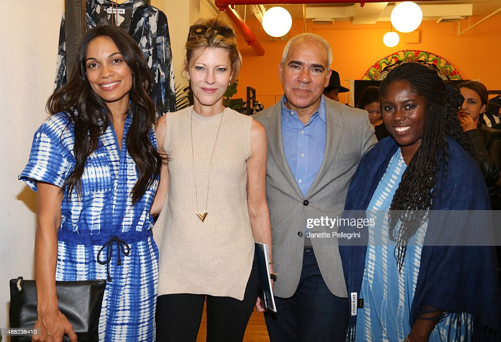 Rosario Dawson, Robbie Myers and Abrima Erwiah attend Studio 189 Presentation at Spring 2016 New York Fashion Week:The Shows on September 14, 2015 in New York City.