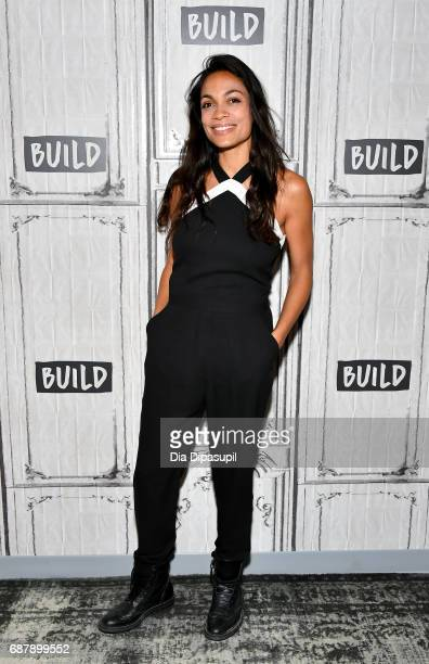 Rosario Dawson visits the Build Series to discuss her work with the Lower Eastside Girls Club at Build Studio on May 24, 2017 in New York City.