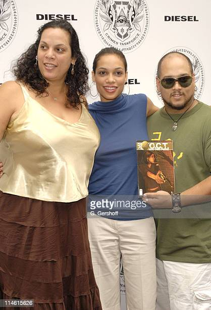 Rosario Dawson with mother Isabel and brother Gus Vasquez executive producer of Occult Crimes Taskforce