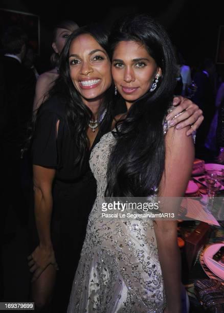 Rosario Dawsona and Fagun Thakrar attend amfAR's 20th Annual Cinema Against AIDS during The 66th Annual Cannes Film Festival at Hotel du CapEdenRoc...