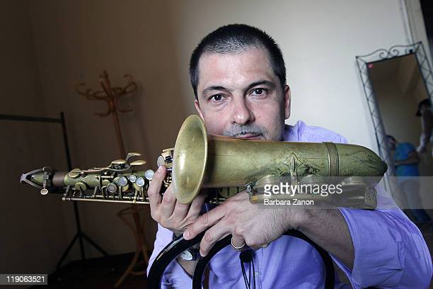 Rosario Giuliani poses at a portrait session at Teatro Pavone during Umbria Jazz Festival on July 14 2011 in Perugia Italy
