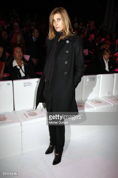 Rosario Nadal attends the Valentino fashion show during the Paris Fashion Week Spring/Summer 2008 readytowear collections at Carrousel du Louvre on...
