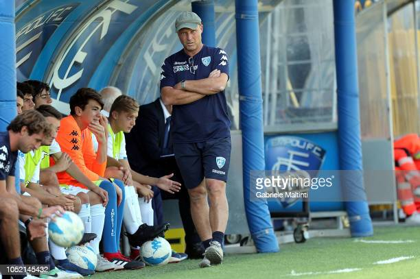 Rosario Pergolizzi manager of Empoli FC U17 looks on during them match Empoli FC U17 between ACF Fiorentina U17 on October 14 2018 in Empoli Italy