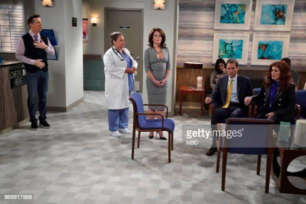WILL GRACE 'Rosario's Quinceanera' Episode 107 Pictured Sean Hayes as Jack McFarland Lidia Porto as Doctor Jill Megan Mullally as Karen Walker Eric...