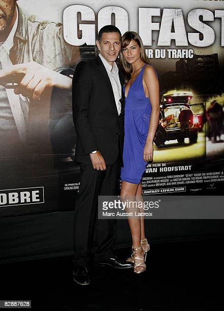 Roschdy Zem and actress Catalina Denis attend the Go Fast premiere at Le Grand Rex on September 18 2008 in Paris France