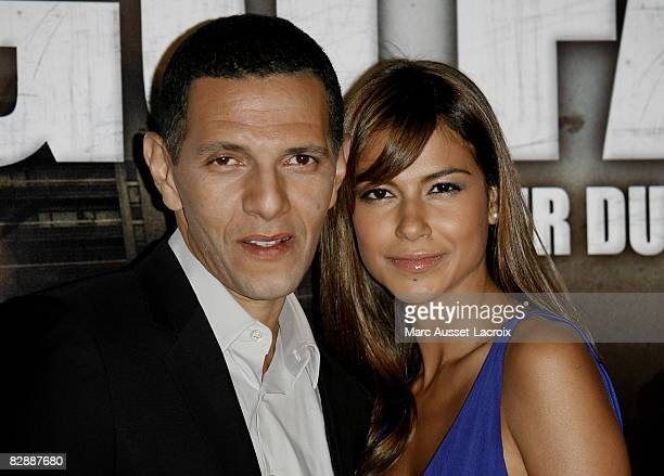 """Roschdy Zem and actress Catalina Denis attend the """" Go Fast"""" premiere at Le Grand Rex on September 18, 2008 in Paris, France."""