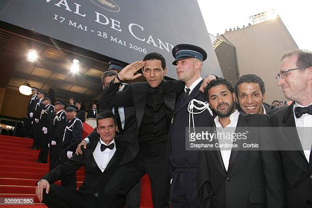 Roschdy Zem Jamel Debbouze Rachid Bouchareb Sami Bouajila and Bernard Bancan at the premiere of 'Transylvania' during the 59th Cannes Film Festival