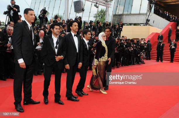 Roschdy Zem Jamel Debbouze Sami Bouajila Rachid Bouchareb Chafia Boudraa and guest attend the 'Outside the Law' Premiere at the Palais des Festivals...