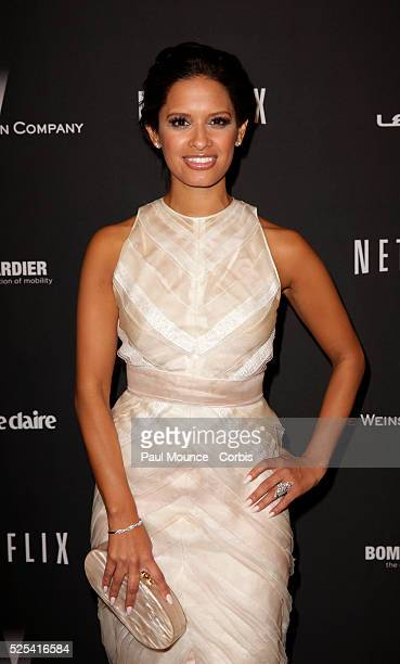 Rosci Diaz arrives at the Weinstein Company Golden Globes AfterParty