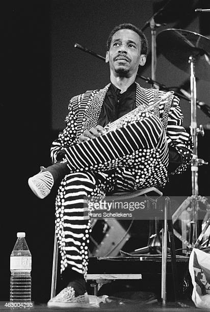 Roscoe Mitchell, soprano sax, performs with AEOC at the North Sea Jazz Festival in the Hague, the Netherlands on 15 July 1990.