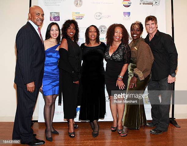 Roscoe Orman Lia Chang Pauletta Washington Darlene Gidney Lorey Hayes Phyllis Yvonne Stickney and Jeff Wallner attend the Power Play Reading...