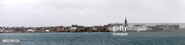 roscoff in brittany - finistere stock photos and pictures