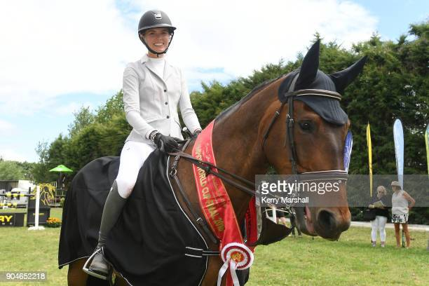 Rose Alfeld rides My Super Nova and wins overall in the FEI NZ World Cup League on January 14 2018 in Auckland New Zealand