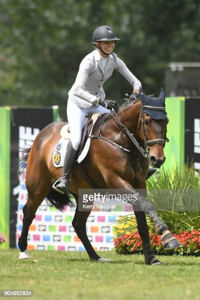 Rose Alfeld rides My Super Nova and wins the FEI NZ World Cup League Final to take the series overall on January 14 2018 in Auckland New Zealand