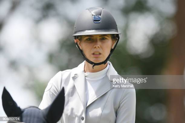 Rose Alfeld rides My Super Nova and wins the FEI NZ World Cup League Final taking the series overall on January 14 2018 in Auckland New Zealand