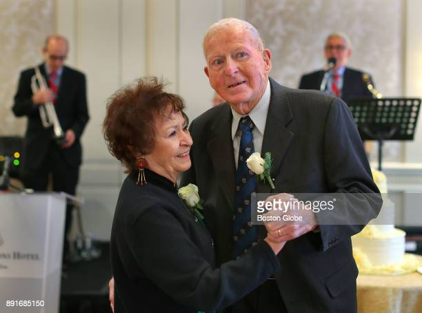 Rose and Frank Murphy who have been married for 66 years enjoy a dance to the song 'Moon River' during the annual Boston Elderly Commission Golden...