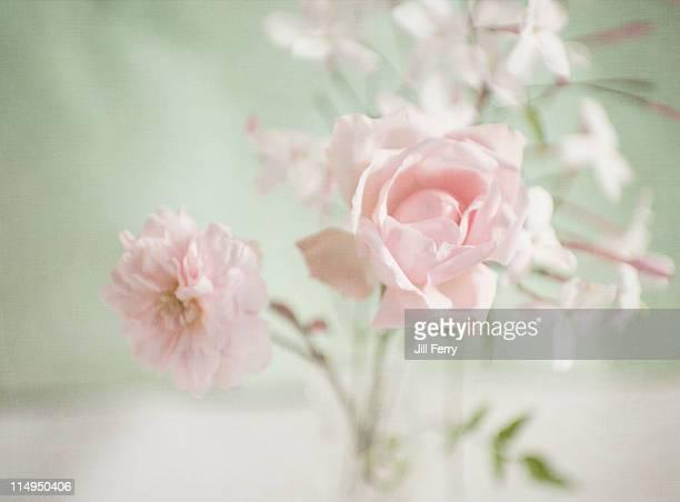 Rose and jasmine vase