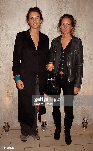 Rose and Marina Hanbury arrive at the launch party of the Nina Ricci Boutique at Harvey Nichols on September 3 2007 in London England
