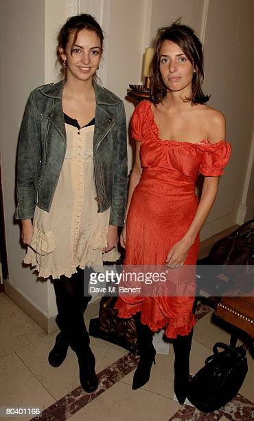 Rose and Marina Hanbury attend the book launch of Rowan Somerville's latest book The End of Sleep at the Egyptian Embassy on March 27 2008 in London...