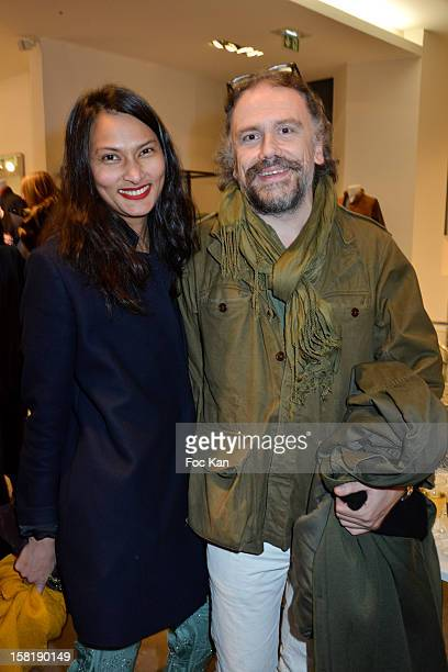 Rose and Simon Liberati attend the Designer Kevin Lyons And Various Artists Exhibition Preview At Colette on December 10 2012 in Paris France