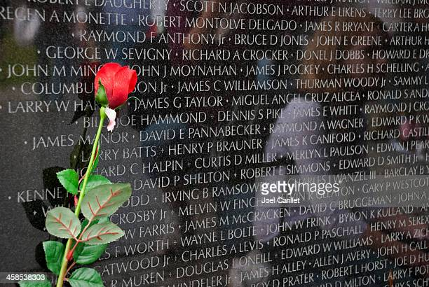 Rose au Vietnam Veterans Memorial à Washington, D.C.