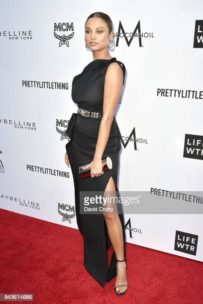 Rose Bertram attends The Daily Front Row's 4th Annual Fashion Los Angeles Awards Arrivals at The Beverly Hills Hotel on April 8 2018 in Beverly Hills...