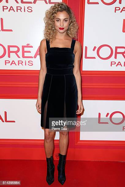 Rose Bertram attends the L'Oreal Red Obsession Party Photocall as part of the Paris Fashion Week Womenswear Fall/Winter 2016/2017 on March 8 2016 in...