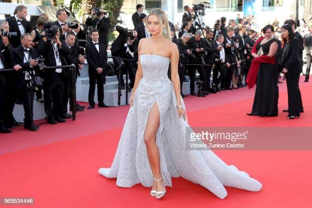 Rose Bertram attends the screening of 'Capharnaum' during the 71st annual Cannes Film Festival at Palais des Festivals on May 17 2018 in Cannes France