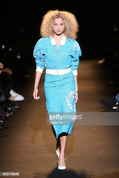 Rose Bertram walks the runway during #TackleEbola during Naomi Campbell's Fashion For Relief 2015 fall fashion show at The Theater at Lincoln Center...