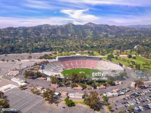 rose bowl stadium in pasadena ca - pasadena california stock photos and pictures