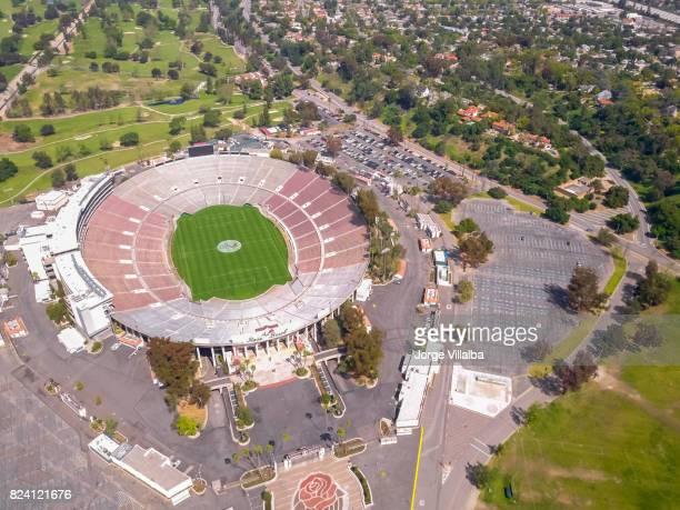 rose bowl stadium in pasadena ca - pasadena stock pictures, royalty-free photos & images