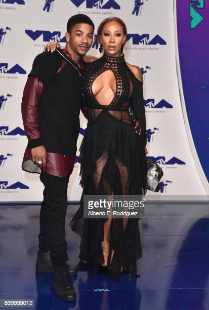 Rose Burgundy and HazelE attend the 2017 MTV Video Music Awards at The Forum on August 27 2017 in Inglewood California