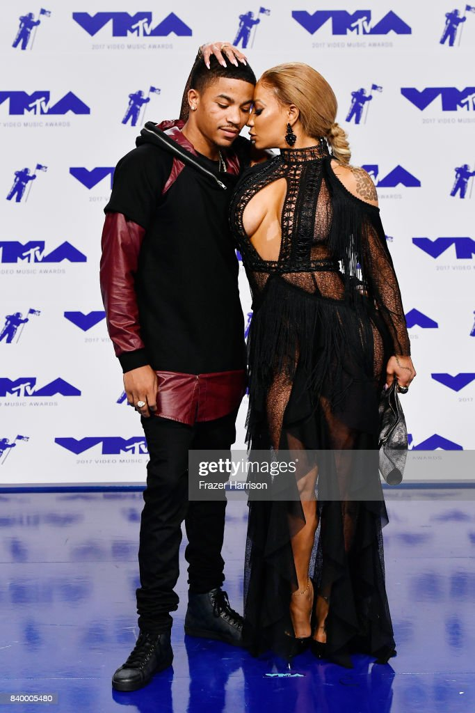 Rose Burgundy and Hazel-E attend the 2017 MTV Video Music Awards at The Forum on August 27, 2017 in Inglewood, California.