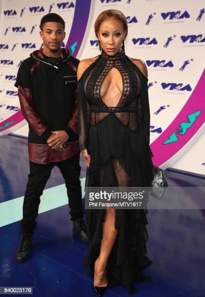 Rose Burgundy and HazelE during the 2017 MTV Video Music Awards at The Forum on August 27 2017 in Inglewood California