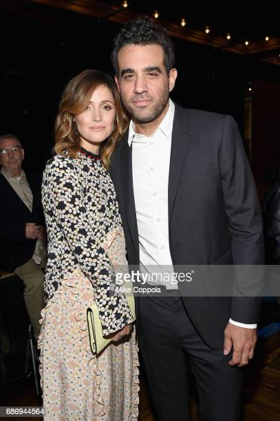 Rose Byrne and Bobby Cannavale attend the 2017 Obie Awards at Webster Hall on May 22 2017 in New York City
