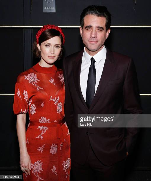 "Rose Byrne and Bobby Cannavale attend the BAM opening night after party for ""Medea"" at Public Records on January 30, 2020 in New York City."