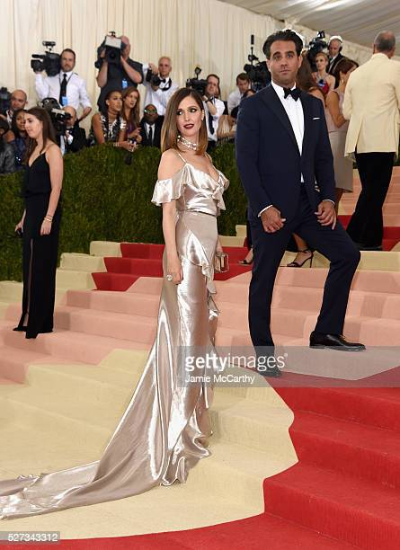 Rose Byrne and Bobby Cannavale attend the Manus x Machina Fashion In An Age Of Technology Costume Institute Gala at Metropolitan Museum of Art on May...