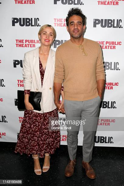 Rose Byrne and Bobby Cannavale attend the 'Socrates' Opening Night at The Public Theater on April 16 2019 in New York City