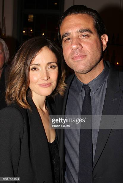 Rose Byrne and Bobby Cannavale pose at The 20th Annual New Group Theater Company Gala at Tribeca Rooftop on March 9 2015 in New York City