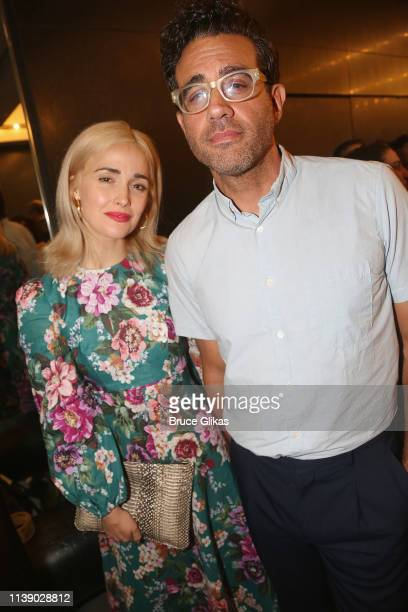 Rose Byrne and Bobby Cannavale pose at the opening night of Tootsie on Broadway at The Marquis Theatre on April 23 2019 in New York City