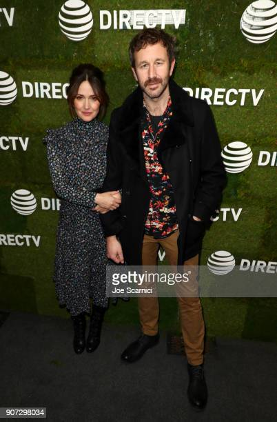 Rose Byrne and Chris O'Dowd stop by DIRECTV Lodge presented by ATT during Sundance Film Festival 2018 on January 19 2018 in Park City Utah