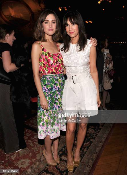 Rose Byrne and Kristen Wiig attend the Marc Jacobs Spring 2013 Mercedes-Benz Fashion Week After Party at the New York Yacht Club on September 10,...