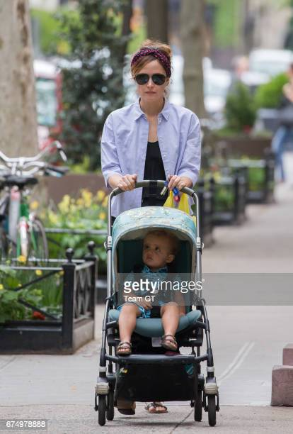 Rose Byrne and Rocco Cannavale are seen on April 29 2017 in New York City