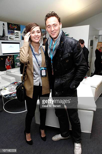 Rose Byrne and Tom Hiddlestone at the Lacoste VIP Lounge at the ATP World Tour Finals in the O2 Arena on November 27 2010 in London England