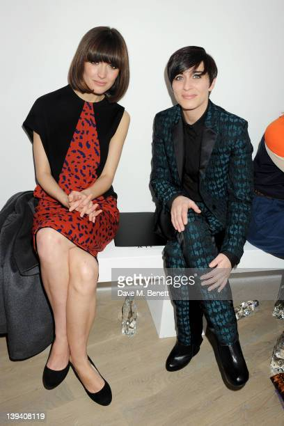 Rose Byrne and Vicky McClure sit in the front row at the Pringle Of Scotland Autumn/Winter 2012 show during London Fashion Week at Phillips de Pury...