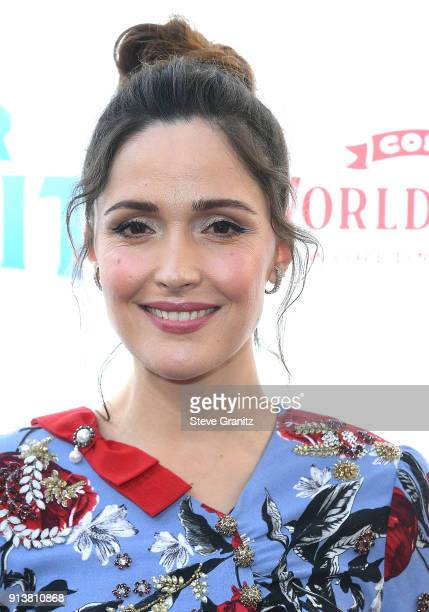 Rose Byrne arrives at the Premiere Of Columbia Pictures' Peter Rabbit at The Grove on February 3 2018 in Los Angeles California