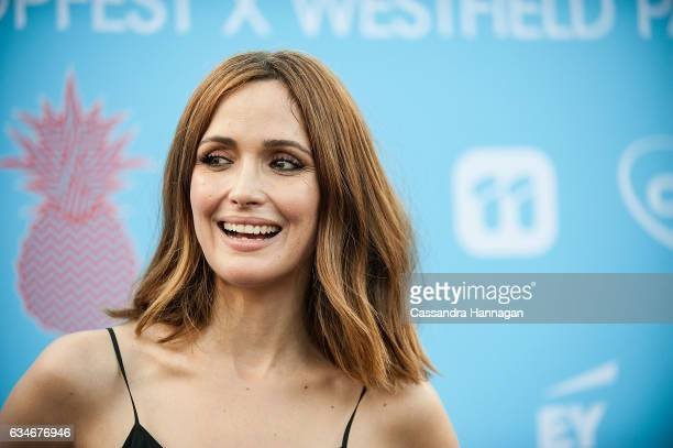 Rose Byrne arrives at Tropfest on February 11 2017 in Sydney Australia