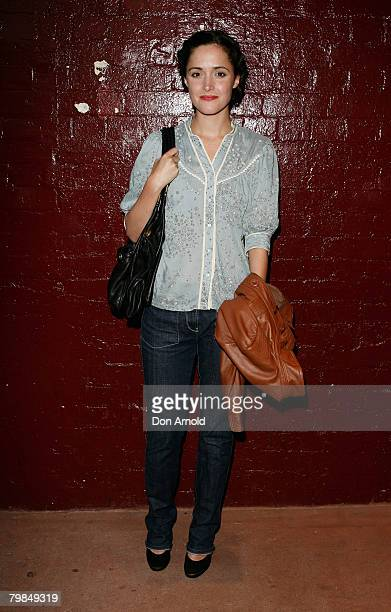 "Rose Byrne arrives for the opening night of Kate Mulvany's ""The Seed"" at the Belvoir Street Theatre on February 20, 2008 in Sydney, Australia."