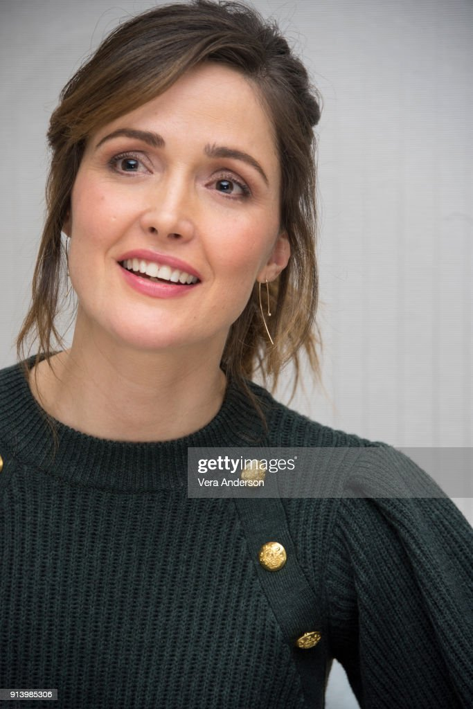 Rose Byrne at the 'Peter Rabbit' Press Conference at the Four Seasons Hotel on February 2, 2018 in West Hollywood, California.